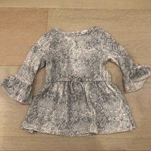 Splendid toddler dress python print